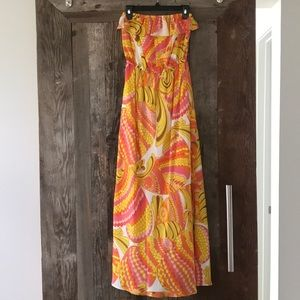 💖💛 Trina Turk for Banana Republic Strapless Maxi